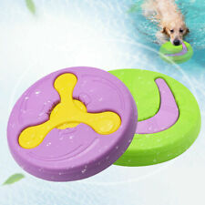 Large Dog Flying Discs Indestructible Aggressive Chew Toy Floating Fetch Playing