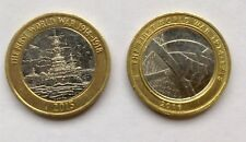 Two Rare £2 Coins. First World War - Navy 2015 & Army 2016. Circulated.