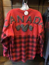 Disney Epcot O Canada Mickey Mouse Checkered Spirit Jersey Pullover Top Shirt 2X
