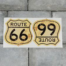 2 x Route 66 Vinyl Stickers Decal Car Van Bike - 100mm x 100mm - SKU5464
