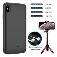 For iPhone XR/XS Max/X/8 Plus Battery Charging Case Power Bank With Phone Holder