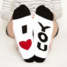 Fashion Women Men Unisex Letter I LOVE YOU Funny Casual Sport Cotton Ankle Socks