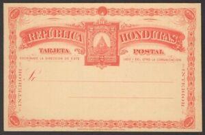 Honduras 1890 2c red postal card unused HG #5