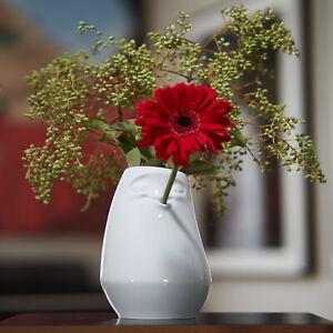 Tassen Laid Back Vase - flower, arrangement, porcelain, white, decoration, desig