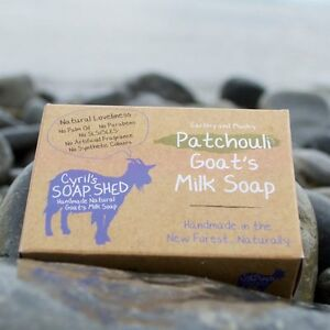 Cyril's Soap Shed Handmade Natural Goats Milk Soap with Patchouli Essential Oil