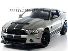 COLLECTIBLES 395 2013 13 FORD SHELBY GT500 GT 500 1/18 GREY with BLACK STRIPES