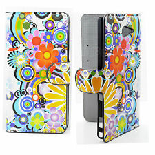 Book Flip Wallet Leather Hard Cover Case With Magnetic For Sony Xperia M2 S50H