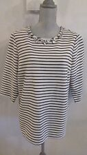 NWT JULES & LEOPOLD 1X WHITE & BLACK STRIPED TUNIC TOP w/BLING MSRP $75.00