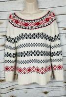 Talbots Fair Isle Pullover Sweater Wool Blend XS