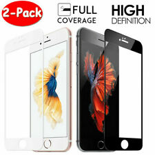2Pack FULL COVER Tempered Glass Screen Protector Fit For iPhone SE 8 7 6S 6 Plus