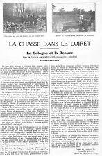 LA CHASSE DANS LE LOIRET ADP DU COMTE DE LARNAGE, MAIRE MEZIERES-LES-CLERY 1924