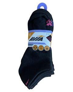 NEW AVIA Performance Socks 12 Pairs Black 4-10