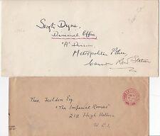 * 1940/c.1950 2 ROYALTY COVERS BUCKINGHAM PALACE PRIVY PURSE  PRINCESS ELIZABETH