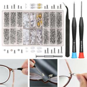 Brillenreparaturset Kit Reparaturset mit Schrauben, Muttern, Nasenpads DE