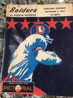1969 AFL Game Program _RARE_ ORIG Oakland Raiders vs Denver Broncos