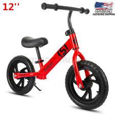 12'' Kids Balance Bike No Pedal Bicycle Ride Scooter Toys Children Training Gift