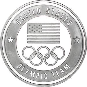 1 oz Silver Round USOC United States Olympic Committee Team USA BU .999 Fine