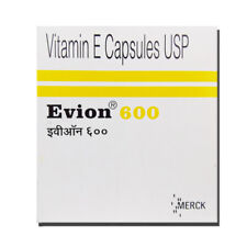 Vitamin E 600 mg for Face Hair Acne Nails NEW EVION 50 Capsules | Free Shipping