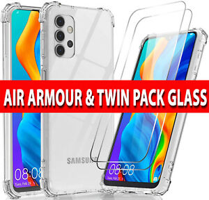 For Samsung A12 A52 A32 A02s S20 FE Case Cover / Tempered Glass Screen Protector