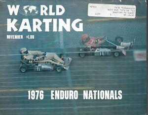 RARE VINTAGE World KARTING  MAGAZINE 1976 NOVEMBER  VINTAGE GO CART- RACING