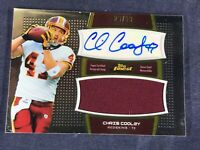 I4-37 FOOTBALL CARD - CHRIS COOLEY - AUTOGRAPHED - JERSEY SWATCH - 2011 TOPPS