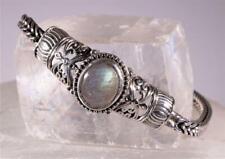 """Labradorite Sterling Silver Bracelet Open Silver Work STS Chuck Clemency 7.5"""""""