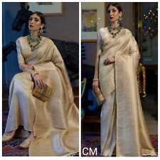 Indian Bollywood Banarasi silk saree blouse designs wedding party wear sari best