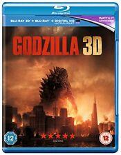 Aaron Taylor-johnson Godzilla 3d 2013 Monster Movie UK Blu-ray