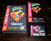The Death and Return of Superman Sega Genesis Complete in Box AUTHENTIC & TESTED