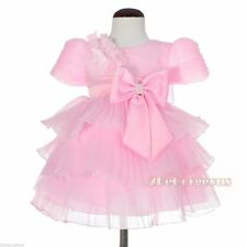 Unbranded Patternless Party Dresses (0-24 Months) for Girls