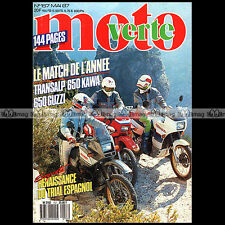 MOTO VERTE N°157-b YAMAHA XT 600 HONDA TRANSALP GUZZI NTX 650 GABINO RENALES 87