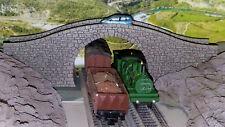 N GAUGE HUMP BRIDGE SCALE MODEL OVERPASS STONE LASER ENGRAVED PRO PAINTED