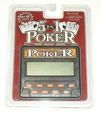 Classic 5-in-1 Poker Handheld Electronic Game  Model: 77701