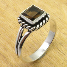 Size 11.5 Ring ART 925 Silver Plated Beautiful Smoky Quartz GIFT FOR LOVED ONES