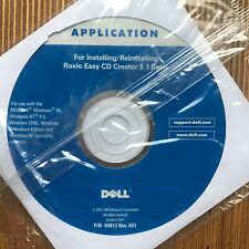 ★ Dell Application Installing Roxio Easy CD Creator 5.1 P/N 4H812 Rev A01 OVP A4