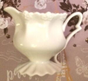 Grace's Tea ware/Teaware White Fluted Bottom Creamer - Unused