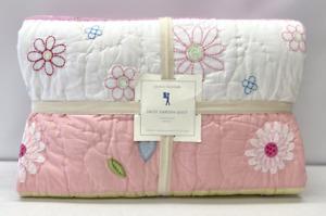 NEW Pottery Barn KIDS Daisy Garden FULL/QUEEN Quilt~Pink Multi
