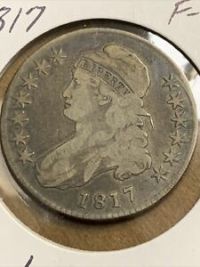 1817 Capped Bust Half Dollar CHOICE FINE FREE SHIPPING E317 KPT