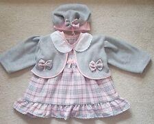 Nouvelle saison bébé fille espagnol/Romany style tartan robe, chapeau, veste 12-18 mois.
