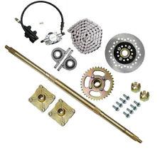 "32"" Rear Live Axle Shaft Kit Chain, Brake Assembly, Sprocket & Hub Go Kart Cart"