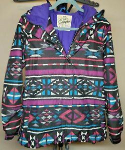 EMPYRE 10,000MM Waterproof Snowboard Ski Winter Jacket Multicolor Women's Sz M