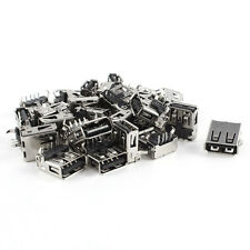 30 Pcs 15mm USB 2.0 Female Type A Port 4-Pin DIP 90 Degree Jack Socket Blac W6D1