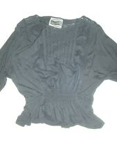 black batwing sleeved top from Next bnwot size 10 embroidered detail everyday