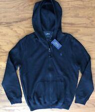 NWT $125 POLO RALPH LAUREN Men's Full Zip Pima Cotton Navy Sweatshirt Hoodie Med