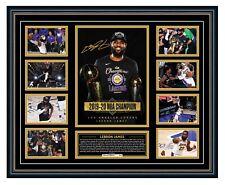 LEBRON JAMES LA LAKERS 2020 NBA CHAMPION FINALS MVP SIGNED FRAMED MEMORABILIA