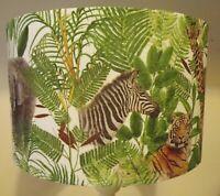 Jungle Animals lampshade,shabby chic,Giraffe,zebra,elephant,tiger, FREE GIFT
