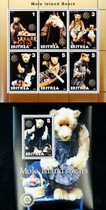 Eritreea-Mole island Bears M/Sh.+S/Sh- MNH, ER 03