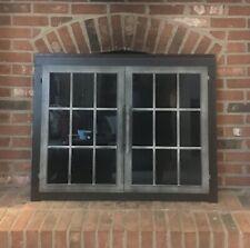 Stoll Fireplace Glass Door Rectangle Industrial Steel Factory Window Pane 40 31