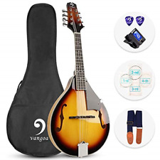 More details for vangoa mandolin instrument a style sunburst acoustic mandolin for beginners with