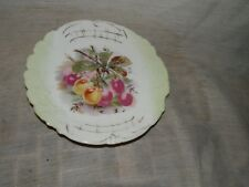 """Vintage, Porcelain, Cherry & Gold Design, 5 1/2"""", Salad Plate"""